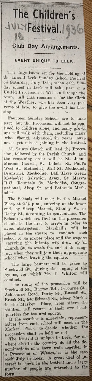 Leek Post Extract about Leek Club Day 1936 IMG_4273